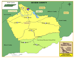 Map Of Tennessee River by Sevier County Tennessee Century Farms