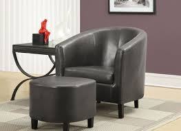 Armchair Ottoman Set Leather Accent Chair With Ottoman Ottomans Makonnen Charcoal