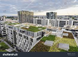 view green roof on modern buildings stock photo 478802800
