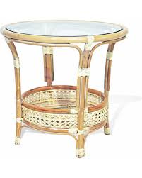 round wicker end table savings on pelangi round wicker coffee table with glass white wash