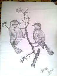 pencil sketch of love birds desipainters com