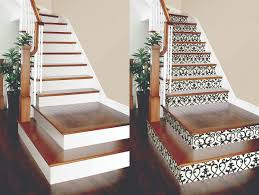 diy project wallpaper on stair risers brewster wallcovering