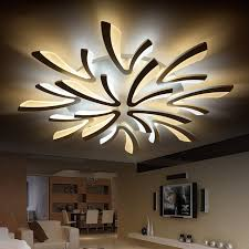 neo gleam acrylic thick modern led ceiling chandelier lights for