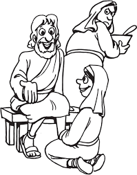 mary martha lazarus coloring page redcabworcester redcabworcester