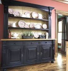 black kitchen hutch kitchens design