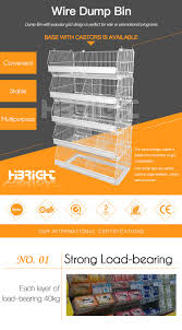 supermarket mobile stackable storage bin stacking wire basket