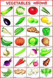 buy vegetables chart 50 x 70 cm book online at low prices in