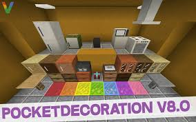 pocketdecoration 8 0 furniture mod for minecraft pe mcpe