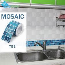 self adhesive wall paper 10x500cm mosaic wall sticker kitchen art decal pvc self adhesive