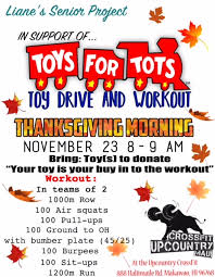 thanksgiving schedule and workout crossfit upcountry