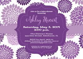 purple baby shower invitations lilbibby com