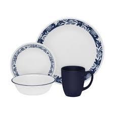 corelle livingware true 16 dinnerware set service for 4