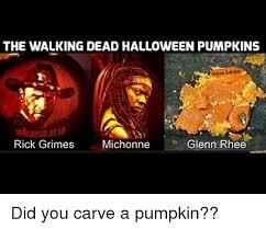 Glenn Walking Dead Meme - the walking dead halloween pumpkins steve sabbai walking dead