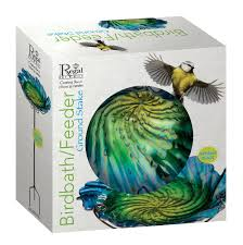 amazon com regal art u0026gift birdbath feeder with stake red