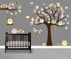 Owl Nursery Wall Decals by Brown Tree Wall Decal Nursery Color The Walls Of Your House