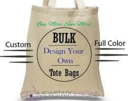 personalized tote bags bulk canvas tote bag bulk etsy