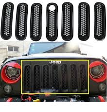 jeep wrangler front grill amazon com black front grill mesh grille insert with key fit