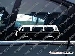 volkswagen classic bus 2x car silhouette sticker vw t3 t25 caravelle bus vanagon