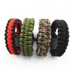 survival bracelet whistle buckle images Camping hiking emergency paracord bracelet for men women survival jpg