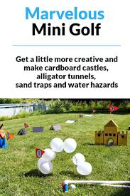 mini golf in your backyard yes please diy crafts pinterest
