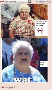 Wat Old Lady Meme - b finds the wat lady 4chan