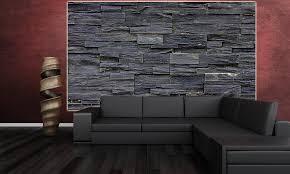 steinwnde wohnzimmer kosten 2 great schwarze steinwand wanddekoration wandbild steinmauer