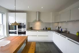 white gloss kitchen doors integrated handle kitchen suffolk