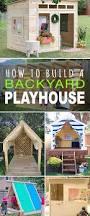 How To Build A Backyard How To Build A Backyard Playhouse The Garden Glove
