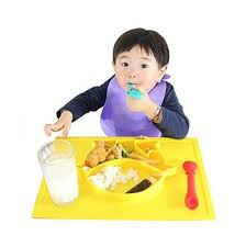 Kids Eating Table Penguin Style Silicone Suction Placemat For Children Highchair