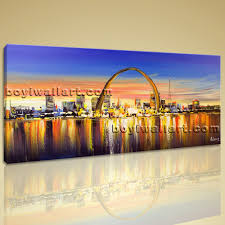 giclee artwork print of landscape painting saint louis arch on