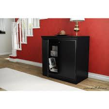 south shore storage cabinet south shore morgan pure black storage cabinet 7270722 the home depot