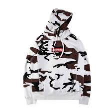 falection 17fw supreme camo cotton box logo bogo hoodie for sale