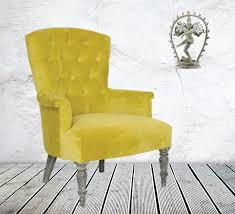 Armchair Velvet Classic Armchair Sofa Upholstered With Velvet Chartreuse