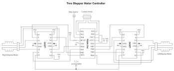 dual stepper motor driver for a robot differential drive