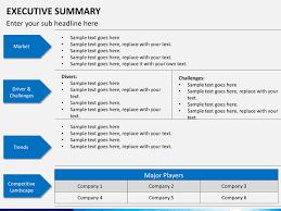executive summary powerpoint template executive summary powerpoint