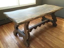 refinishing a rustic farmhouse tavern trestle table u2013 domesticmonkey