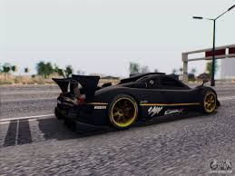 pagani back pagani zonda r 2009 for gta san andreas