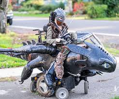 Motorcycle Rider Halloween Costume Wheelchair Halloween Costume Ideas