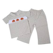 thanksgiving children s smocked and monogrammed