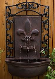 amazon com the bordeaux outdoor wall fountain weathered