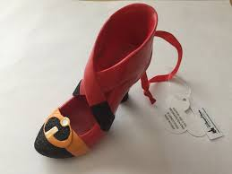 disney parks mrs incredible resin shoe christmas ornament new with ta