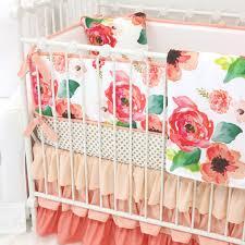 Bedding For A Crib Bedroom Boho Chic Floral Ruffle Crib Bedding Crib Crib Skirts