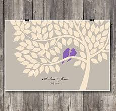 tree signing for wedding alternative wedding anniversary guest book poster set