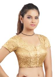 golden blouse buy golden ready made stitched padded printed blouse