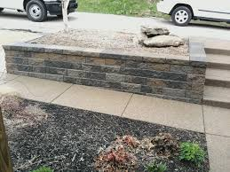 decorating pretty stone wall railing with versa lok for exterior