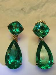 emerald green earrings emerald green earrings vintage earrings estate style earrings