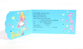 Barbie Themed Invitation Card Barbie Party Invitation Barbie Theme Party Invites Dholdhamaka Com