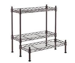 3 tier kitchen cabinet organizer amazon com adjustable steel 3 tier spice rack kitchen cabinet and