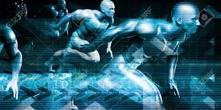 futuristic technology background and visual data of the future