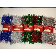 shop living indoor 12 ft l tinsel garland at lowes